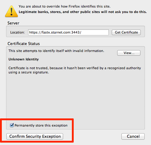 Installing a Self-signed certificate on Firefox | StarNet Knowledge ...